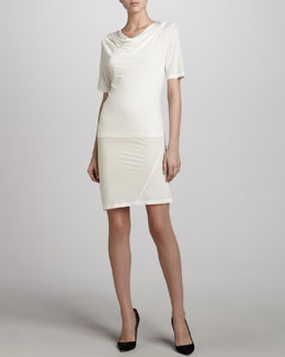 Donna Karan Draped T-Shirt Dress