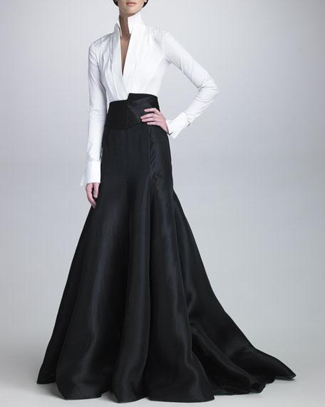 Long Gazar Evening Skirt