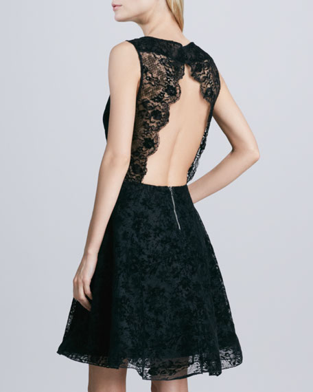 Natalia Open-Back Lace Dress