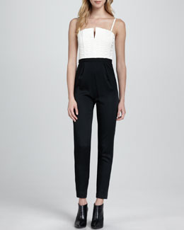 Alice + Olivia Arrow Two-Tone Jumpsuit
