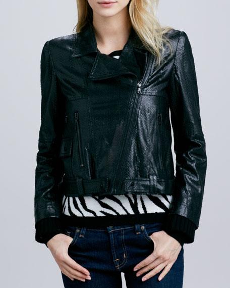 Astor Leather Biker Jacket