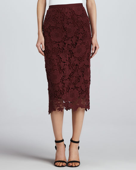 Garrett Fitted Lace Pencil Skirt