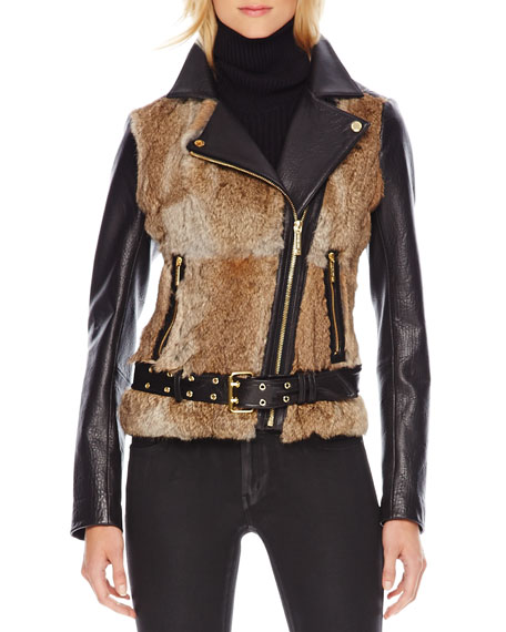 Fur-Front Motorcycle Jacket