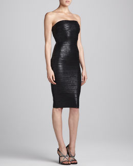 Herve Leger Strapless Bandage Tube Dress