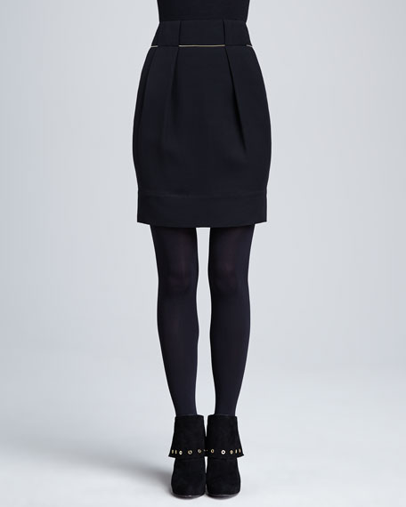 Alaina Golden-Chain Pleated Skirt