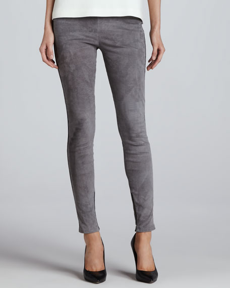 Alisana Cropped Suede Leggings