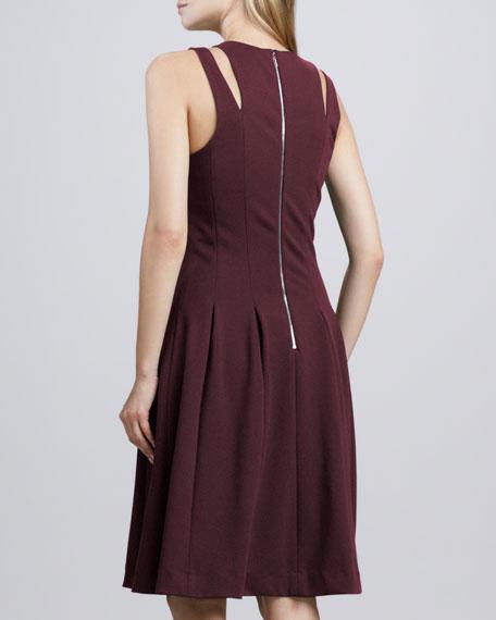 Ponte Cutout-Shoulder Dress