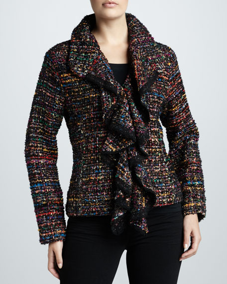 Ruffled Tweed Harmony Jacket