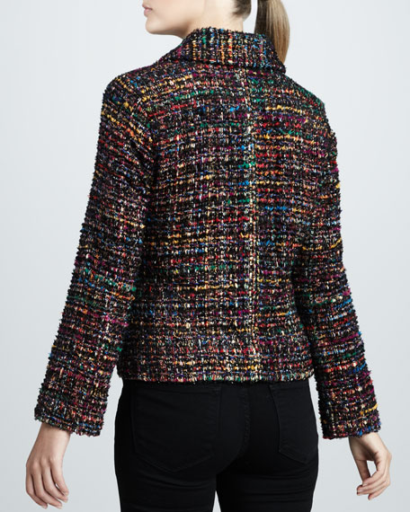 Ruffled Tweed Harmony Jacket, Petite