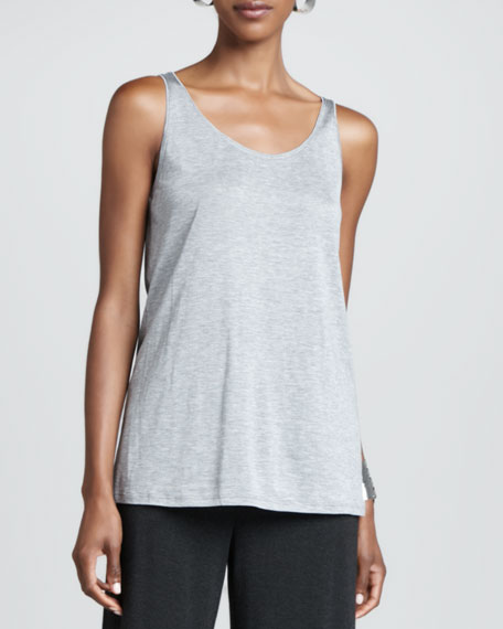 Organic-Cotton Slim Tank, Dark Pearl