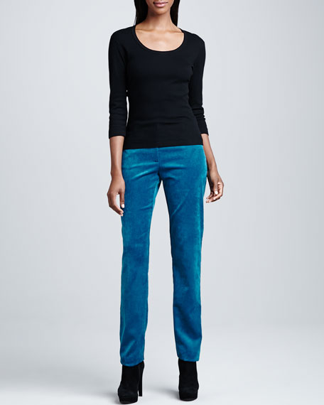 Two-Pocket Corduroy Jeans, Petite