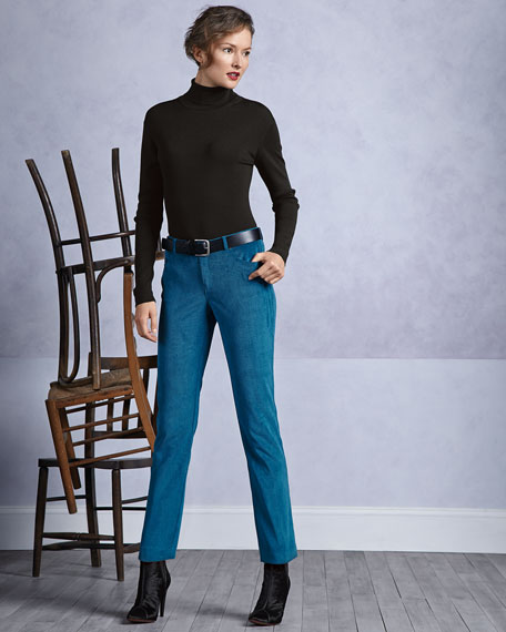 Two-Pocket Corduroy Jeans, Petite