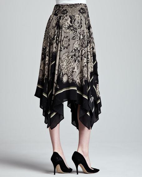 Fly Away Printed Handkerchief Skirt