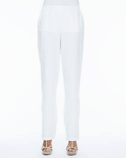 Caroline Rose Crepe Straight-Leg Pants, Women's