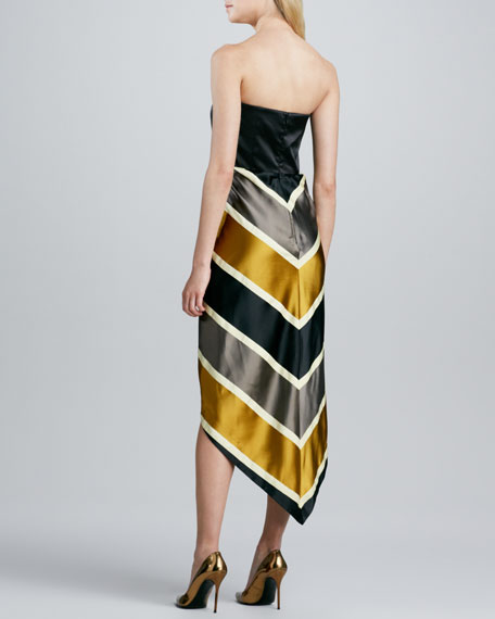 Chevron-Stripe Awning Dress