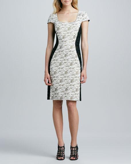 Newbury Short-Sleeve Tweed Dress