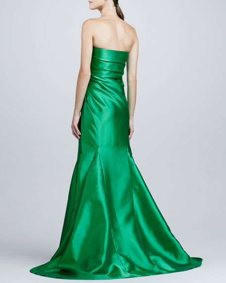 Ruch-Side Strapless Mermaid Gown
