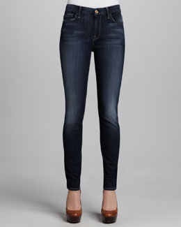 7 For All Mankind Mid-Rise Skinny Seine River Jeans