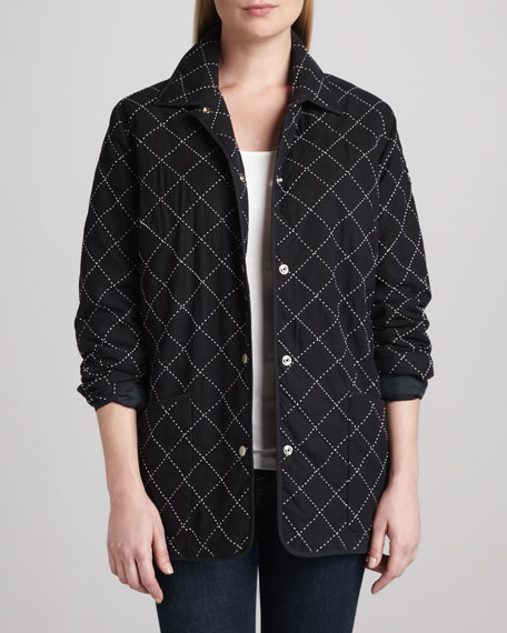 Quilted Silk Barn Jacket
