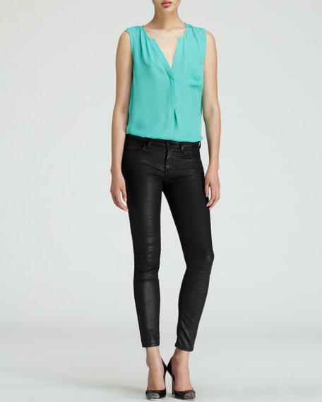 Nailah Faux-Leather Pants