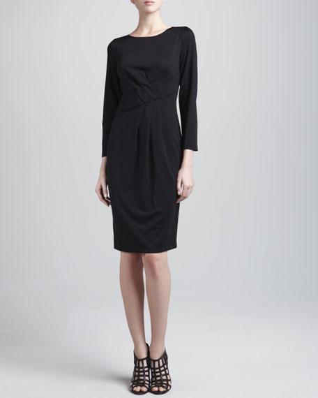 Stretch Jersey Pleated Dress