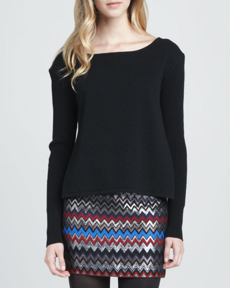Raf Wrap-Back Ribbed Sweater
