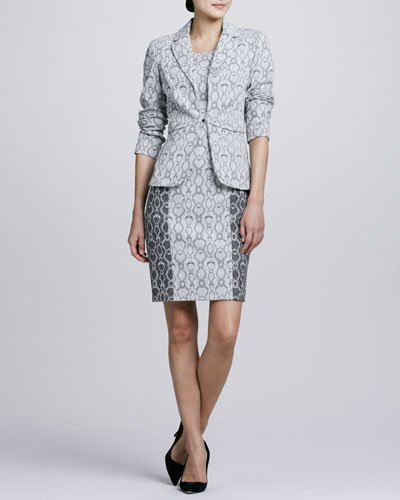 Snake-Print Jacket & Dress Set