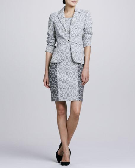 Snake-Print Jacket & Dress Set