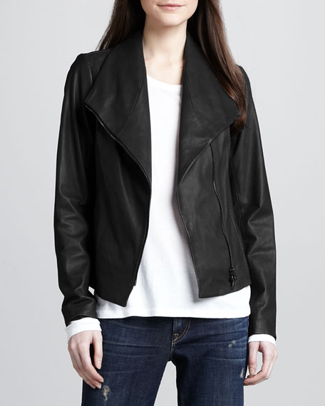 LEATHER SCUBA JACKET / BLACK