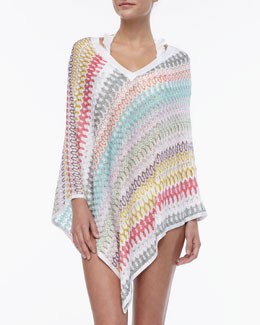 Missoni V-Neck Patterned Poncho