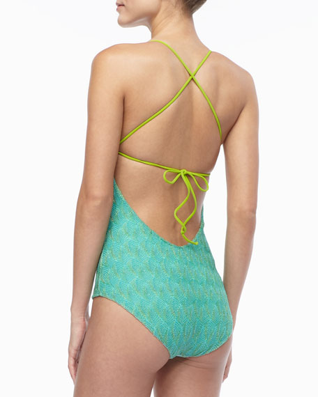 Mixed-Pattern One-Piece