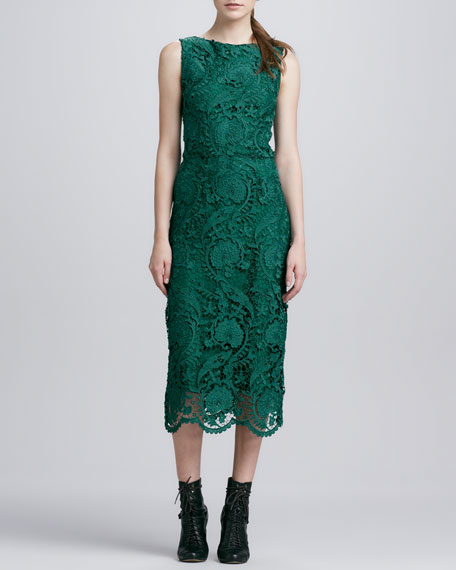 Emma Sleeveless Lace Midi Dress