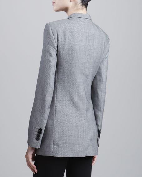 Birdseye One-Button Jacket