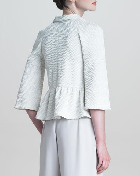 Raised-Jersey Bell-Sleeve Jacket
