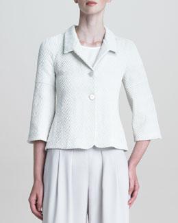 Armani Collezioni Raised-Jersey Bell-Sleeve Jacket