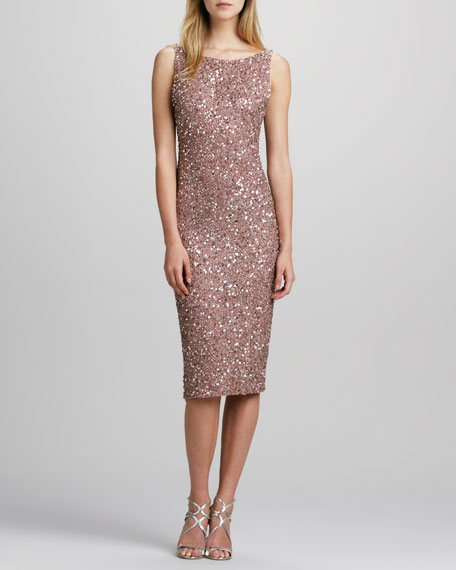 Kimber Sequined Midi Dress