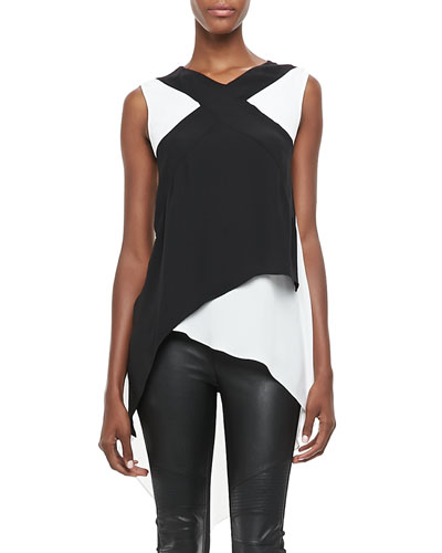 BCBGMAXAZRIA Veronika Two-Tone Layered Top