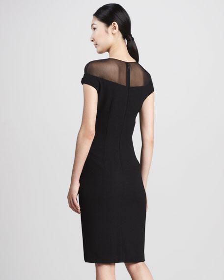 Illusion-Top Cocktail Dress