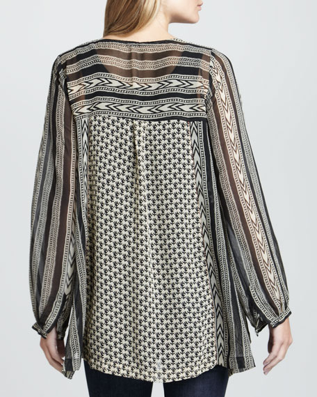 Feather in the Wind Printed Top