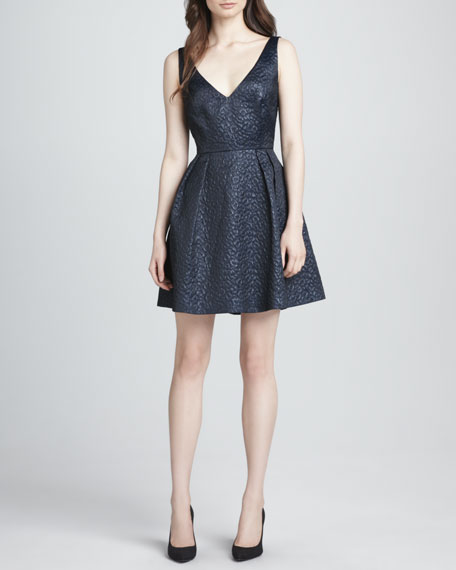 Fast Katari Jacquard Fit-and-Flare Dress