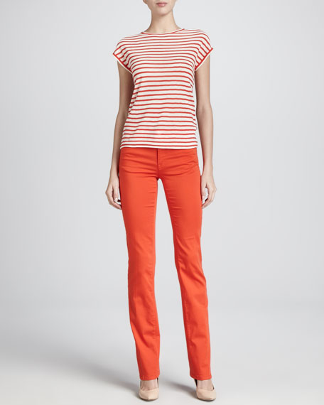 Denim Straight-Leg Trousers, Grenadine