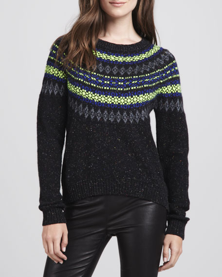Speckled Fair Isle Sweater