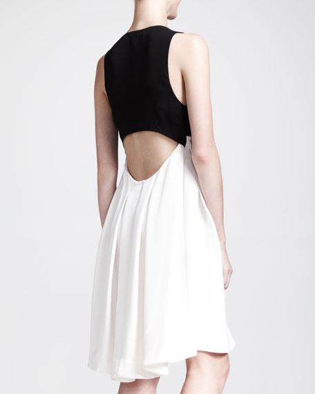 Marcus Bicolor Silk Dress