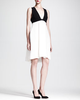 Marcus Bicolor Silk Dress