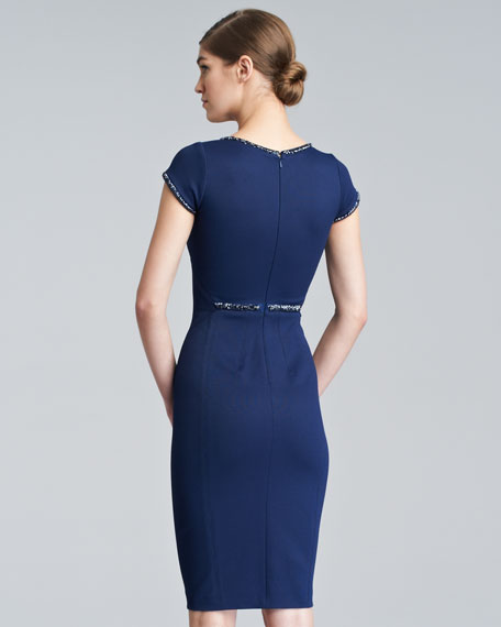 Fitted Cap-Sleeve Dress