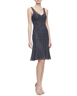 Zac Posen Shell Pointelle Dress, Deep Blue