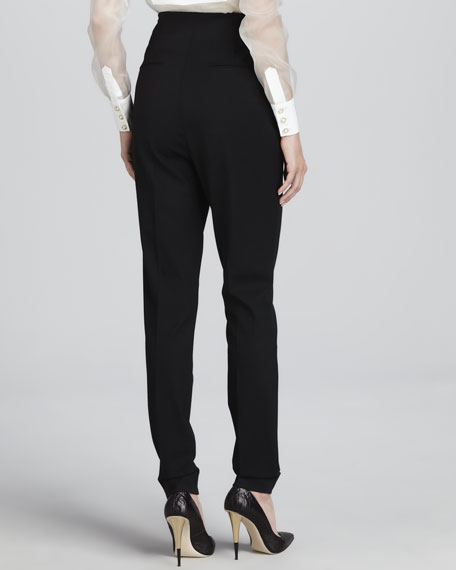 High-Waisted Side-Zip Pants