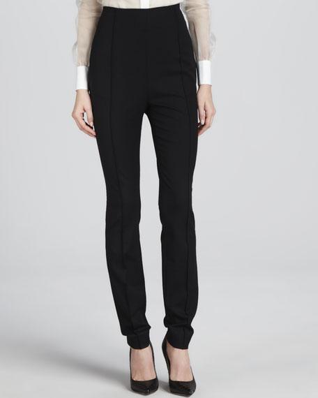 High-Waisted Side-Zip Pants