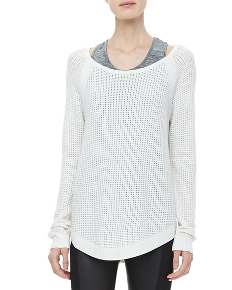 Kylie Mesh Knit Pullover