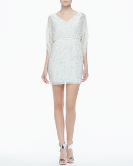 Alice + Olivia Olympia Sequined Silk Dress